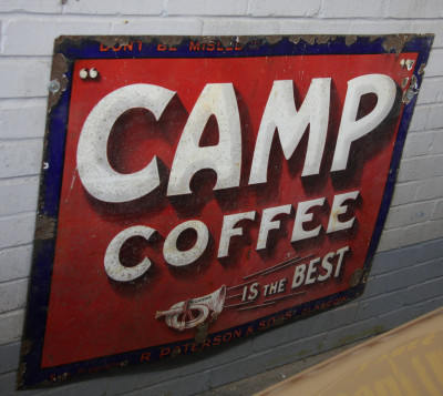 Camp Coffee sign
