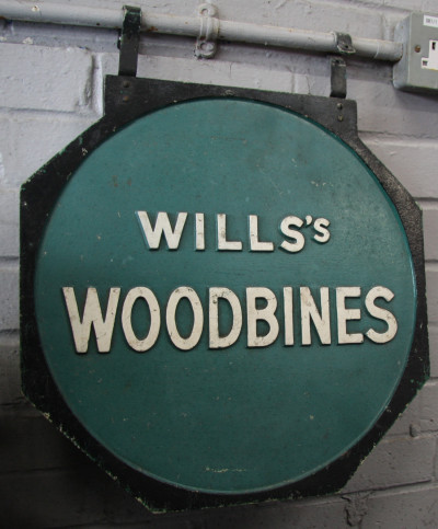 Will's Woodbines sign